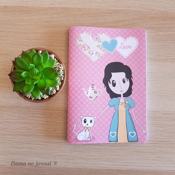 Caderno A5 - Dama Love Tea - Presentes Personalizados - Dama no Jornal®